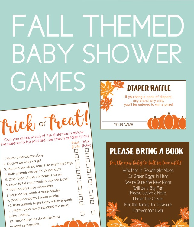 Fall Baby Shower Games You Can Print At Home Or Order Online
