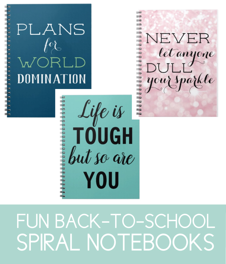Spiral notebooks for back-to-school.