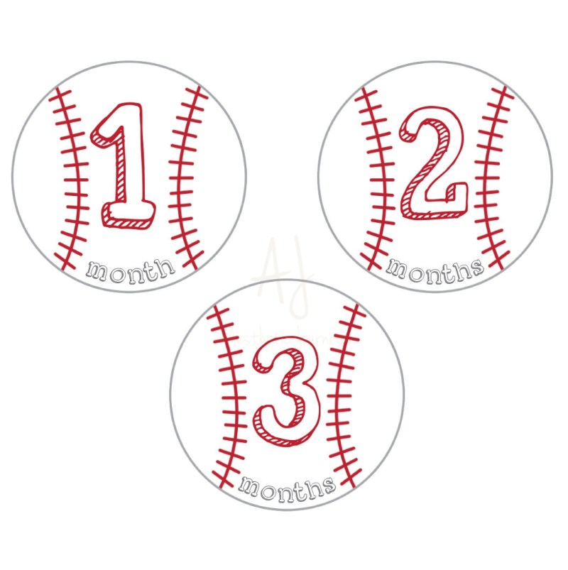 baseball baby milestone stickers