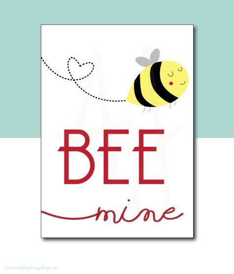 Bee Mine Valentines Decor