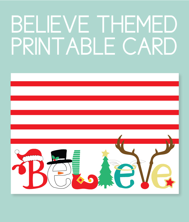 printable christmas instant download card
