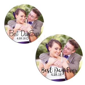 Custom Photo Best Day Ever Stickers