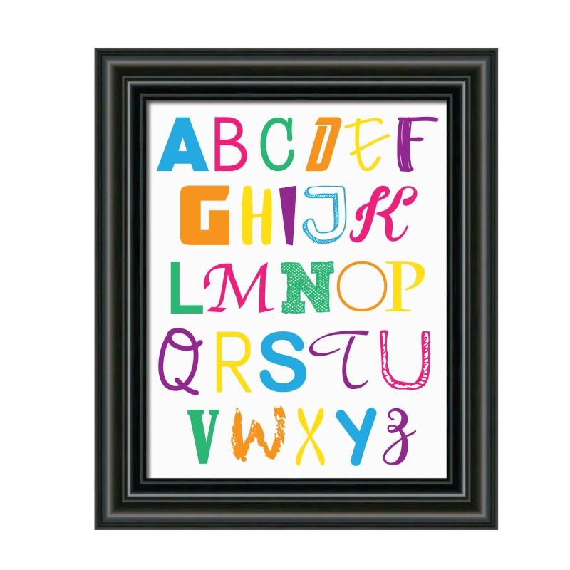 Alphabet Nursery Decoration