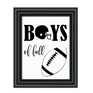 Boys of Fall Football Sign