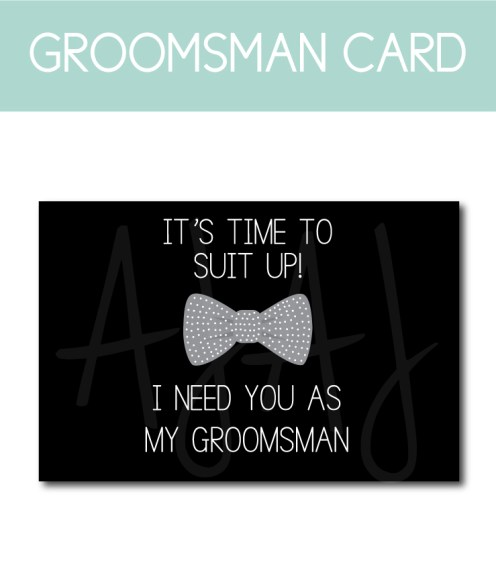 General Groomsman Ask Card