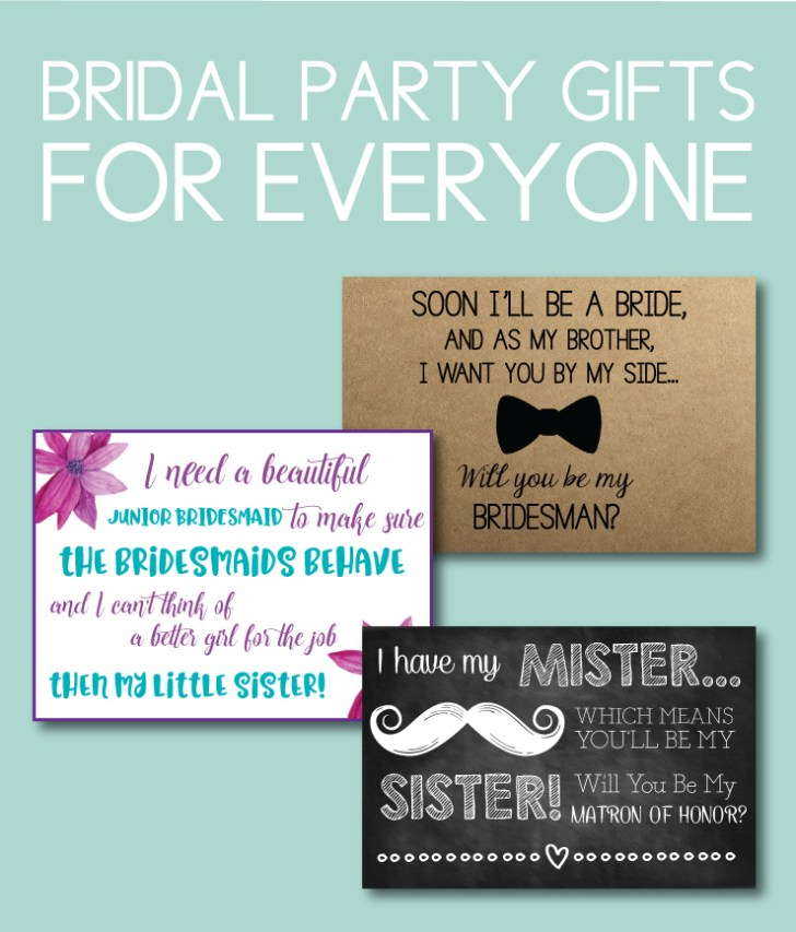 Bridal Party Gifts for Everyone
