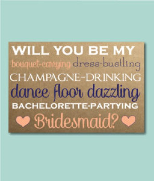 Bridesmaid Ask Quote Card