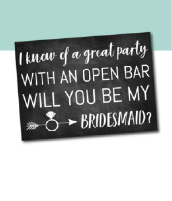 A Great Party Bridesmaid Card