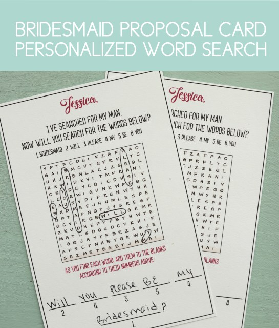 5 Super Unique Bridesmaid Proposals With Free Templates