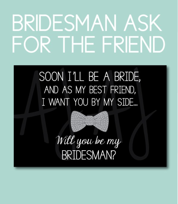 Bridesman Ask Card for the Best Friend