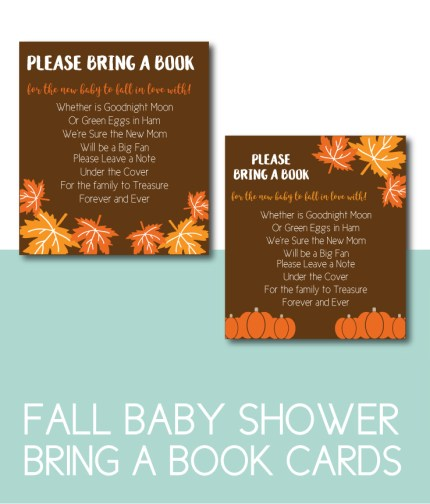 Fall Bring A Book Cards