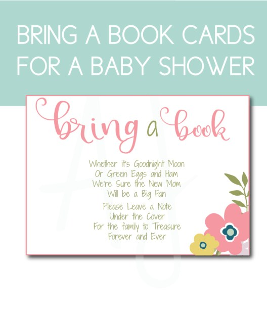 Bring a Book Cards for a Spring Baby Shower Game