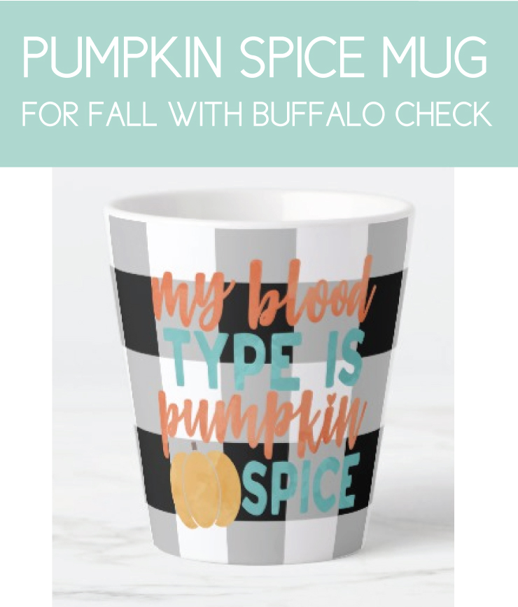 Fall Themed Mug for the Pumpkin Spice Latte Lover
