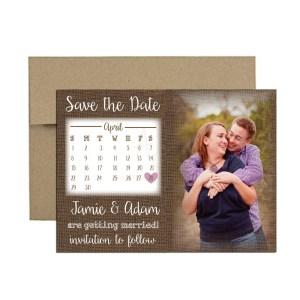 burlap calendar save