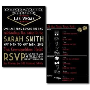 Vegas Themed Bachelorette Invite