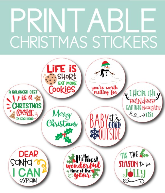 Printable Christmas Stickers