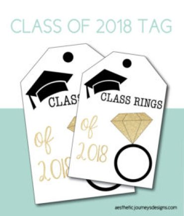 Class Ring Printable Tag