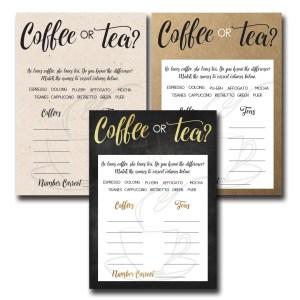 Coffee or Tea Bridal Shower Game