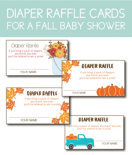 Fall Diaper Raffle Cards