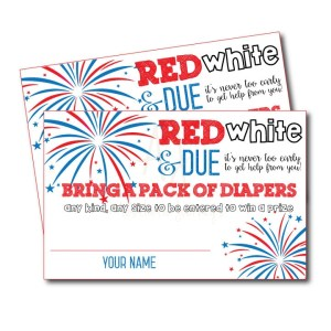 July 4th Themed Diaper Raffle Game