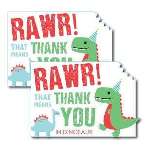 Dinosaur Themed Thank You Card