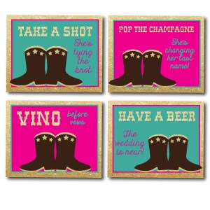 Country Themed Drink Signs