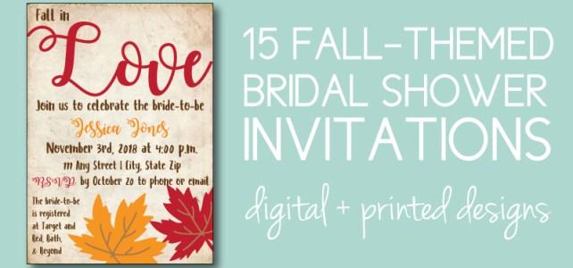 fall bridal shower ideas 15 printable or pre printed invitations