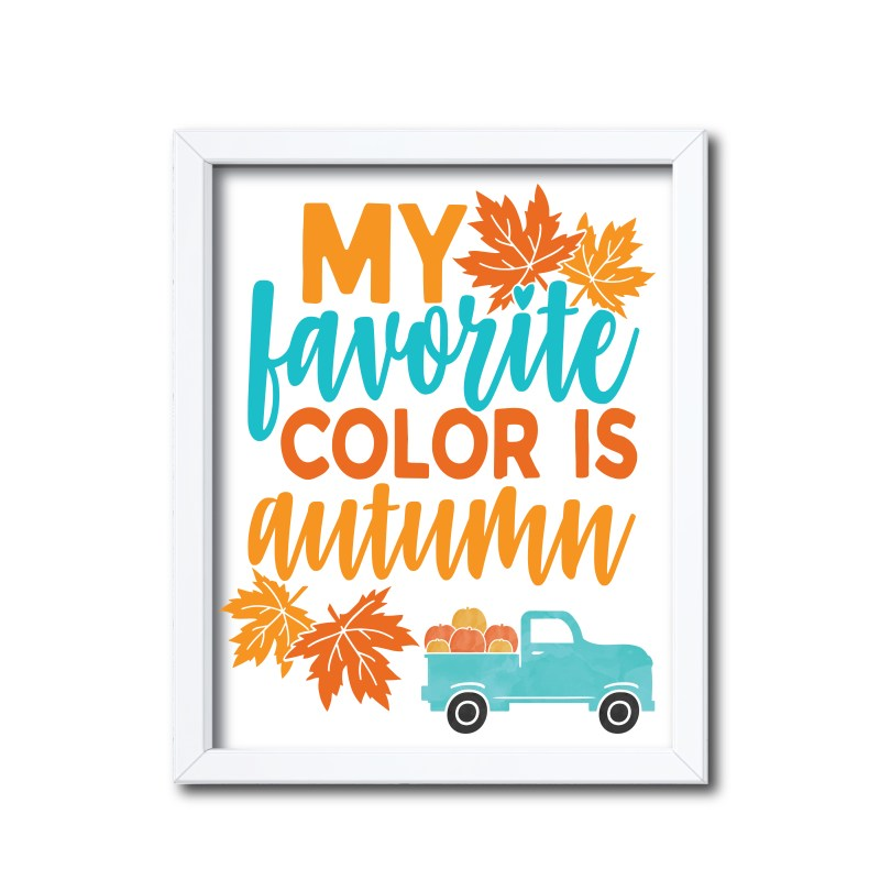 Autumn Themed Sign in Orange and Red