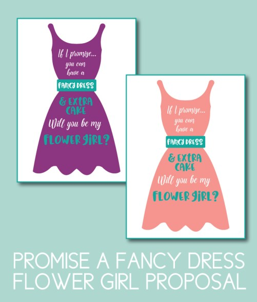 Promise a Fancy Dress Bridesmaid Proposal