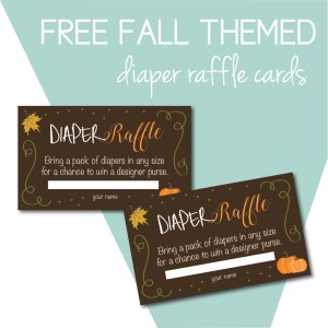 Free Diaper Raffle Cards