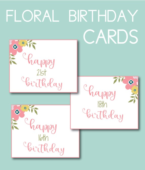 Floral Birthday Cards for a Spring Baby Shower Game