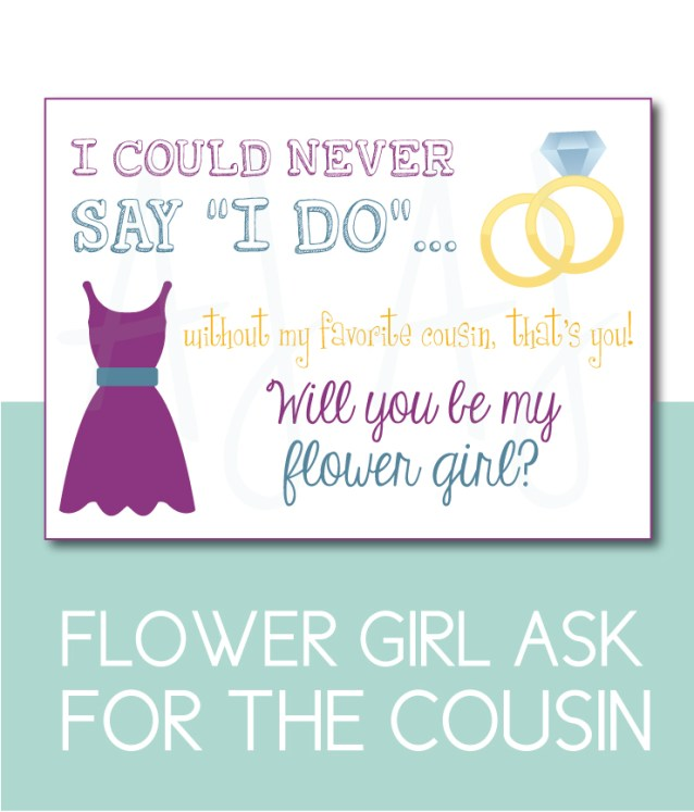 Cousin Flower Girl Card