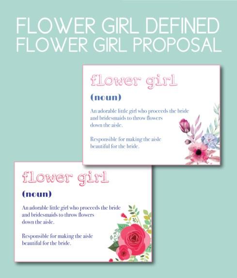 Flower Girl Defined Proposal