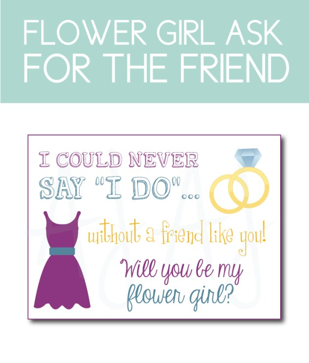 Friendship Flower Girl Card