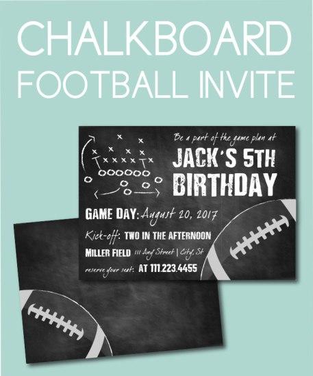 Chalkboard Football Invite