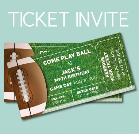 Football Ticket Invite