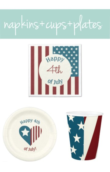 4th of July Themed Paper Goods