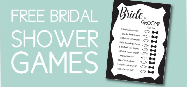 10 Free Games to Print at Home That Every Bridal Shower Needs + Why