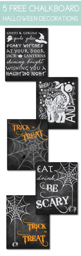 Free Chalkboard Halloween Decorations