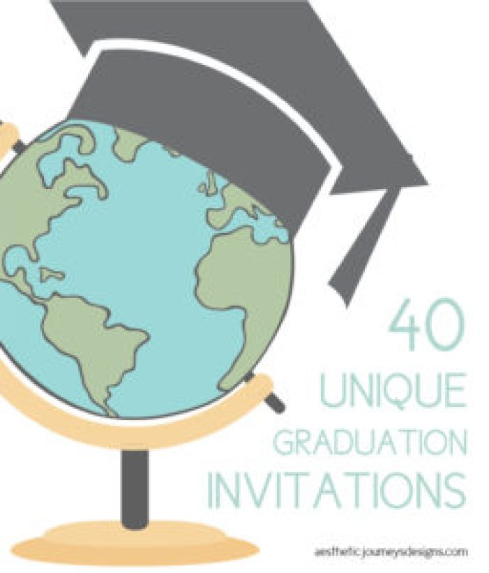 unique graduation invites