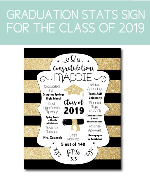 Graduation Sign Gift for the Grad Party