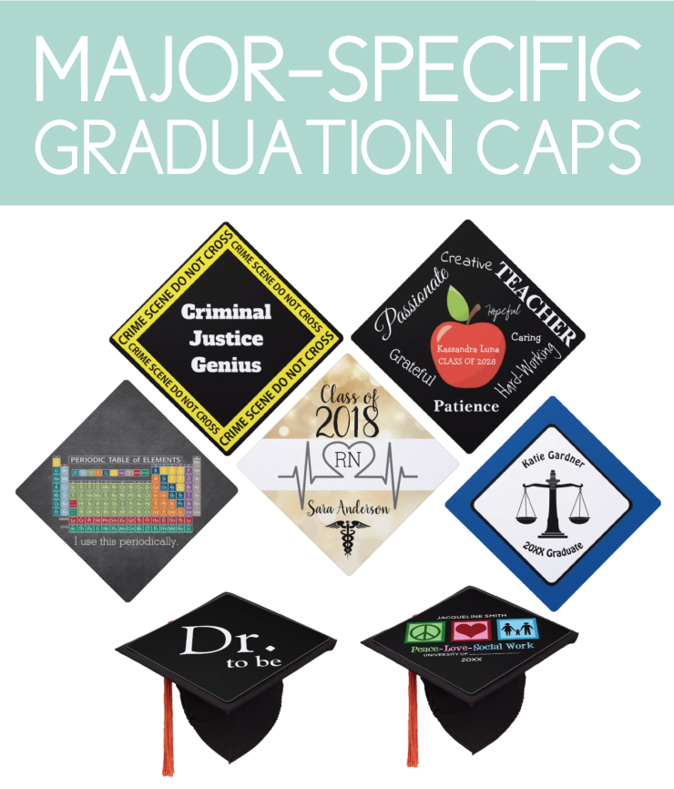 Major-specific graduation caps