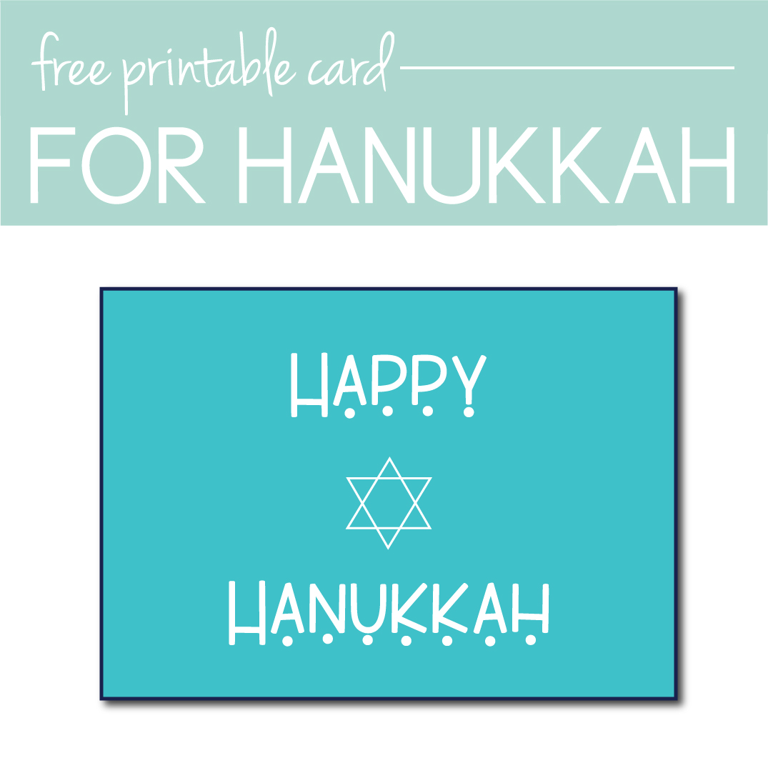 image relating to Free Printable Hanukkah Cards called 13 Hanukkah Playing cards Yourself Can Print at Household or Obtain On the net Presently
