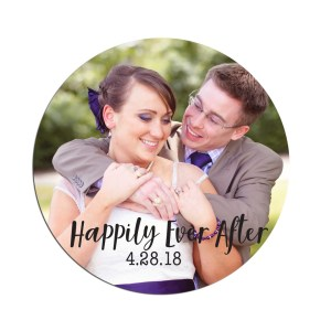 Custom Happily Ever After Photo Stickers