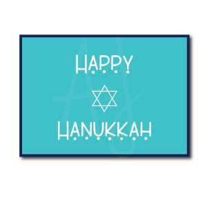 Simple Happy Hanukkah Card