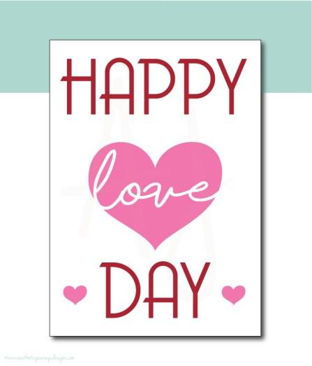 Happy Love Day Valentines Decor
