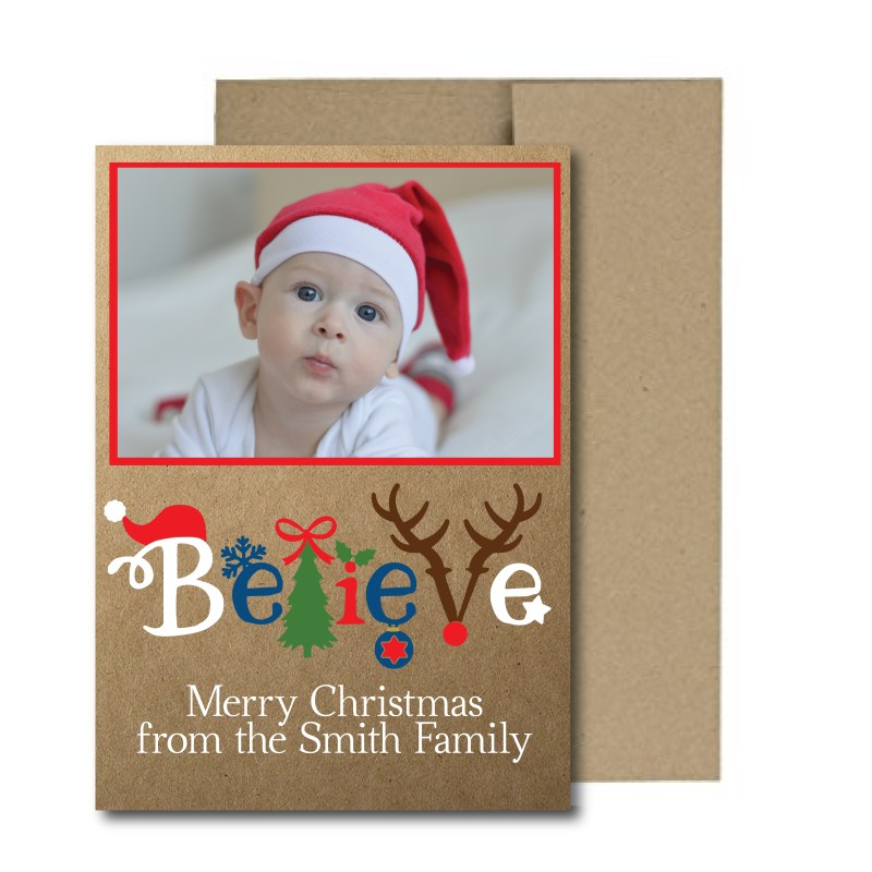 Rustic Photo Holiday Card