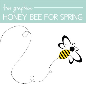 Download a free Honey Bee Graphic on the Journey Junkies page