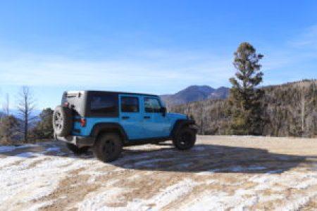 Driving to Greenie Peak