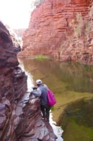 Joffre Gorge, walk the edge or swim the river